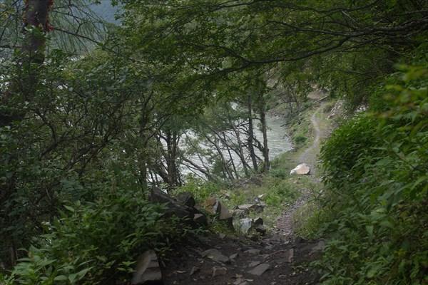 Тропа вдоль разливов