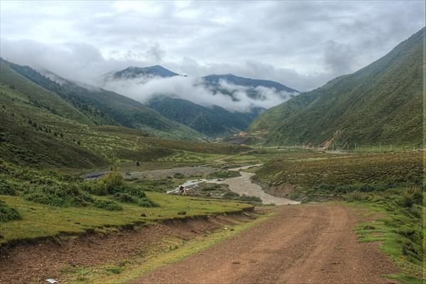 Типичная тибетская долина