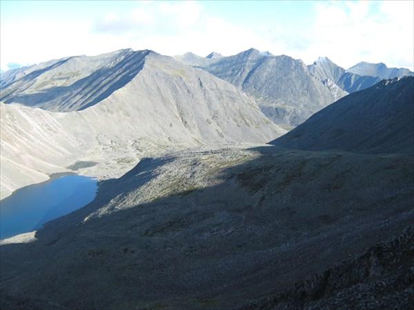 Вид с перевала с одной стороны