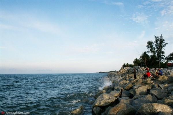 на фото: Малайзия пляж