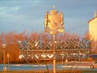 Герб Ямало-Ненецкого автономного округа в аэропорту Салехарда.