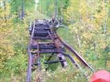 Железнодорожный мост после пожара.