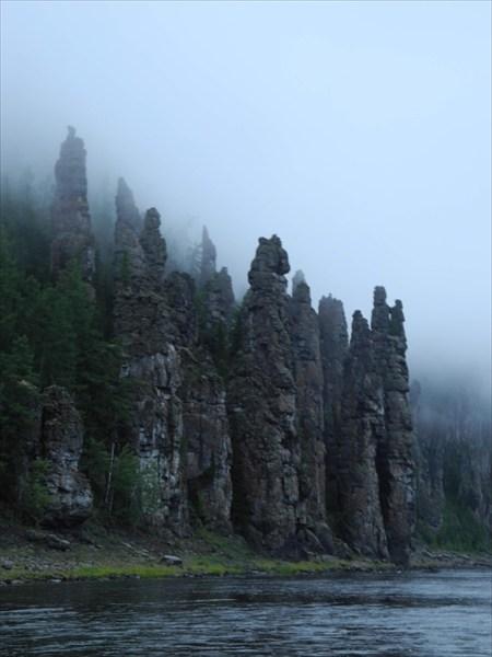 Скалы перед Чунским порогом