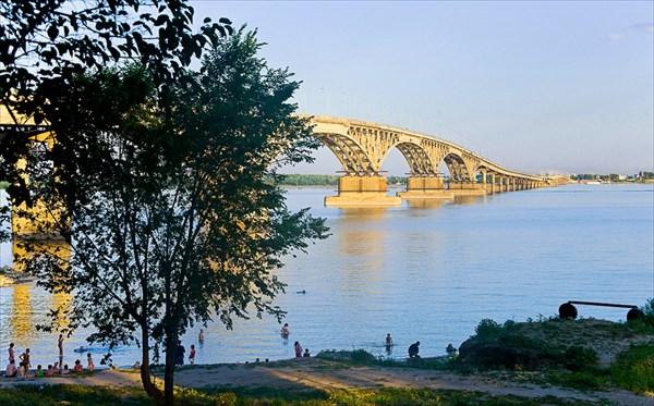 Знаменитый Саратовский горбатый мост