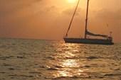 Обычный закат в Индийском океане