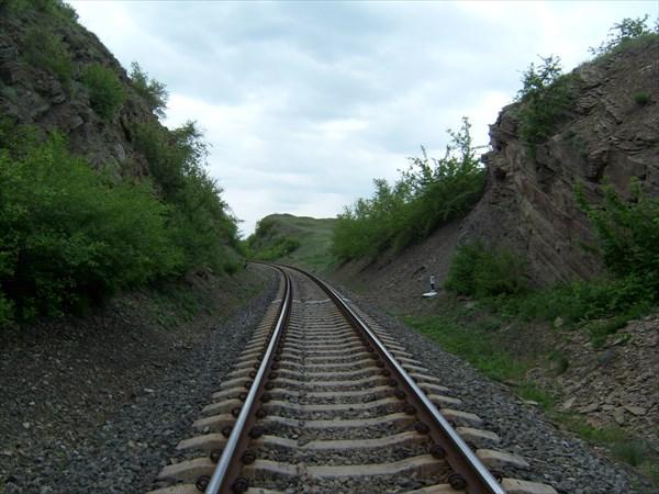 У Глафировского тоннеля.