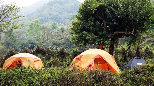 Лагерь на берегу Река Каменг