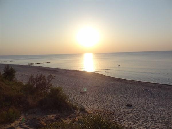 Закат над Балтикой.