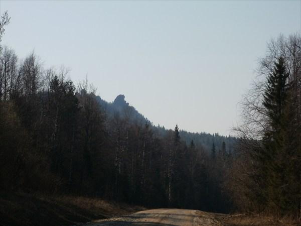 Вид на Колпаки с дороги, со стороны Медведки