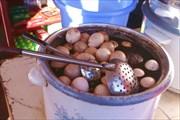 Они очень вкусные, вылежавшись в соевом соусе.