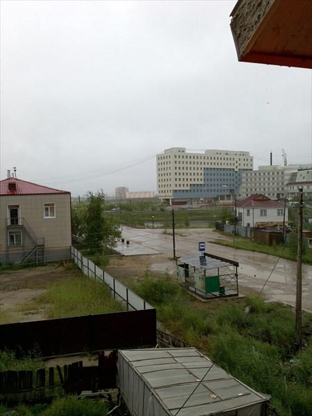 Вид из гостиницы в Якутске.