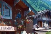 Традиционные деревянные дома в Шамони
