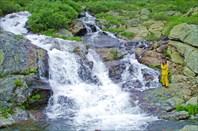 4,15 Второй Харатасский водопад.