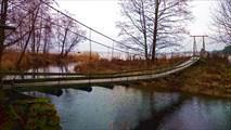 Закрытый мост в национальном парке Лахемаа