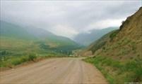 Спуск в ущелье Иссык Ата.