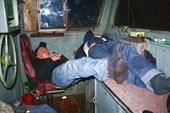 Сон в задней кабине тепловоза 2ТЭ116