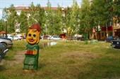 Заболоченная детская площадка в Нефтеюганске