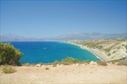 Вид на пляж Kommos