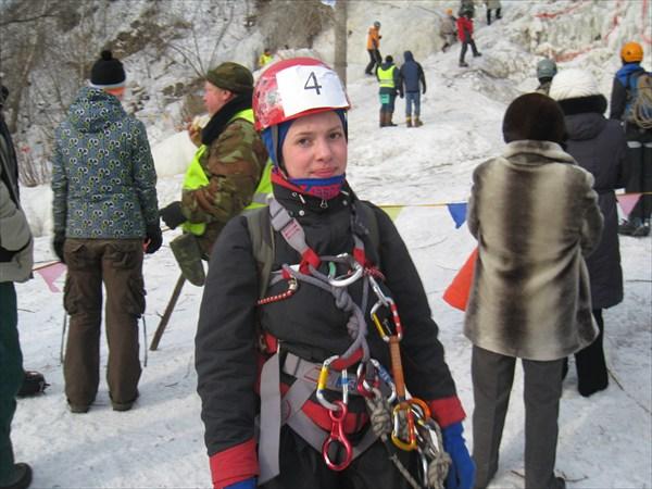 Григоревская Алина после финиша