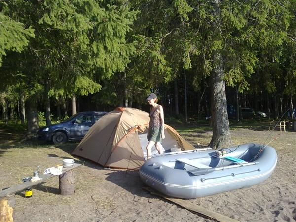 на фото: Базовый лагерь