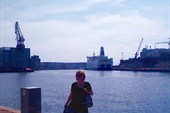 В гавани Стокгольма. У пристани `Принцесса Анастасия`