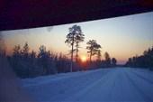 Солнце в зените. Ханты-Мансийский округ, декабрь 2009 года