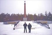 Граница Европа - Азия в районе Екатеринбурга, декабрь 2009 года