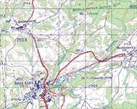 Карта с Лысой (Окрестности Дзержинки)
