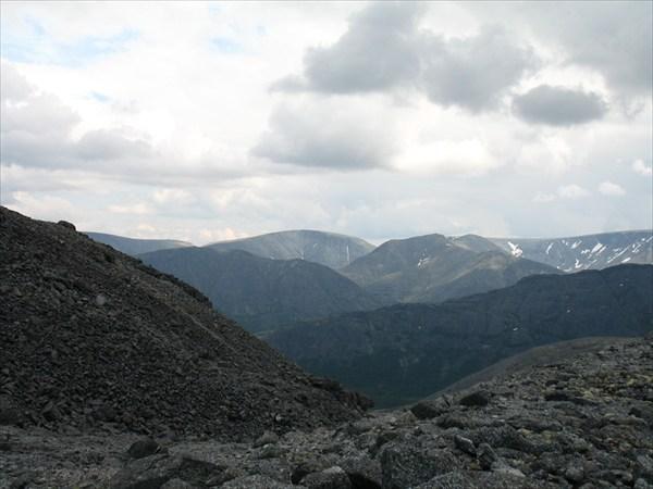 Вид с перевала Ю. Чорргор