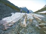 Хибины. Остатки зимних лавин