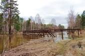 Мост у загородного лагеря `городок солнца`