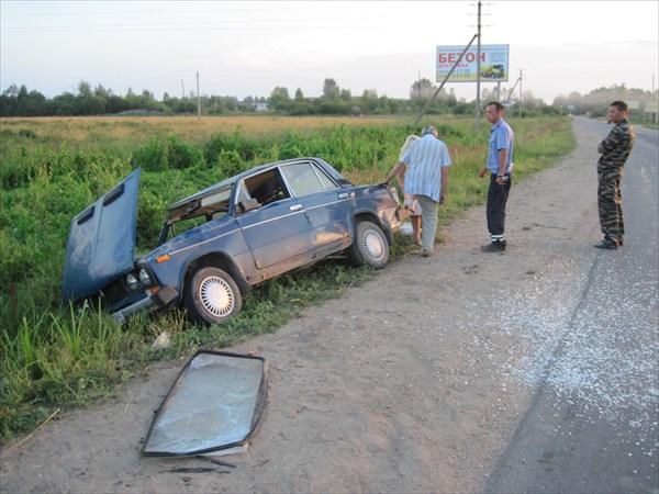 крушение подвозившей меня машины под Селижарово