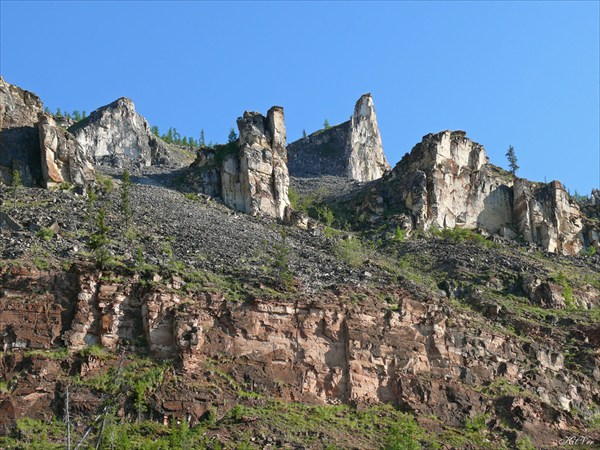 Мелкие скалы