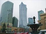 Варшава. Небоскребы в районе центрального железнодорожно вокзала