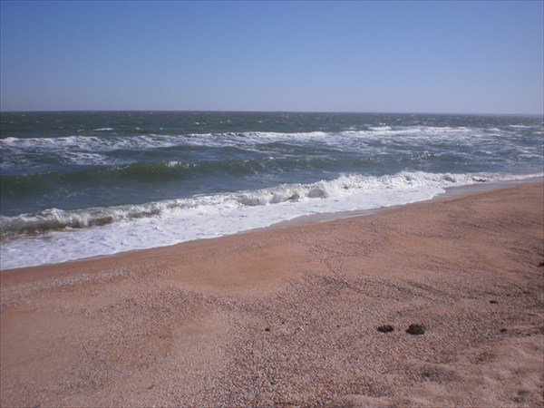 Шторм на море.
