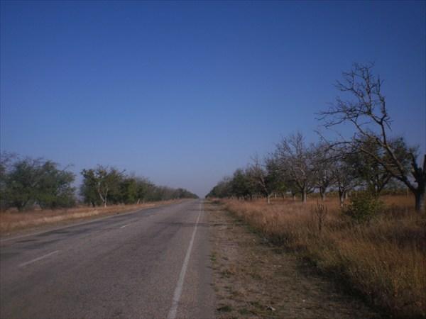 Дорога Севастополь - Евпатория.