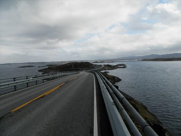 Вид из центра Атлантической дороги на север