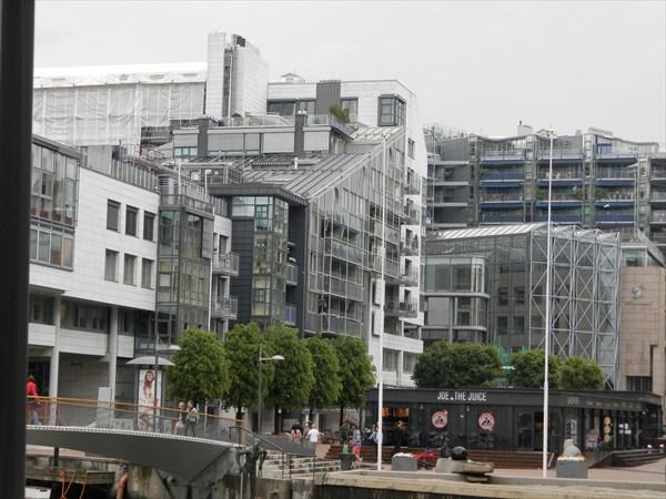 Квартал современных построек в Осло
