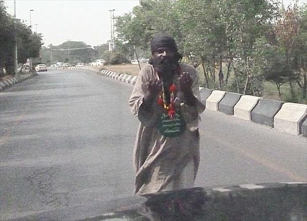 Дорожный попрошайка