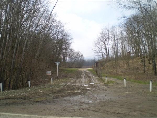 Поворот с автодороги на Орлову щель