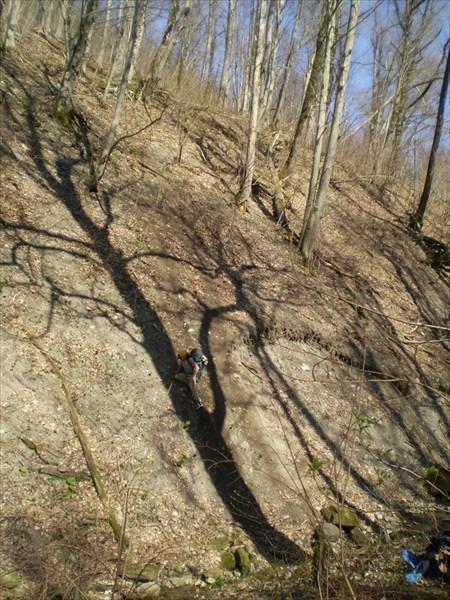 Ущелье после перевала Граничный