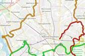 Схема дополнительных к ЗКМ маршрутов севера