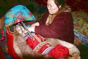 Детская люлька в чуме. Байдарацкая тундра