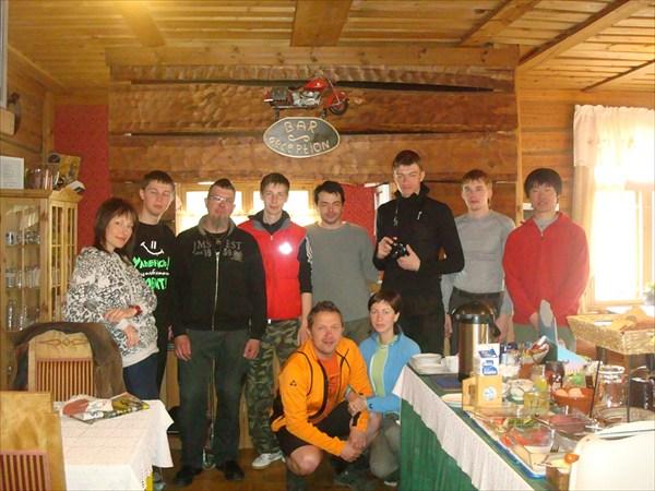 В столовой с группой из ВелоПитера