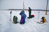 Одеваем лыжи в деревне Наволок