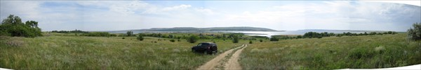 Панорама залива на Волге