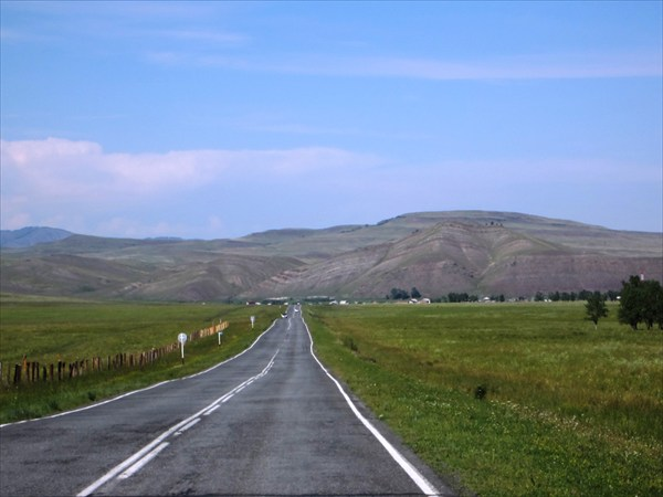 Дорога в Таштып.