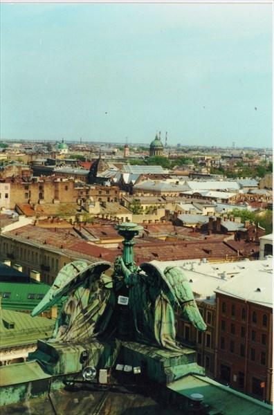 Панорама города с колоннады Исаакиевского собора