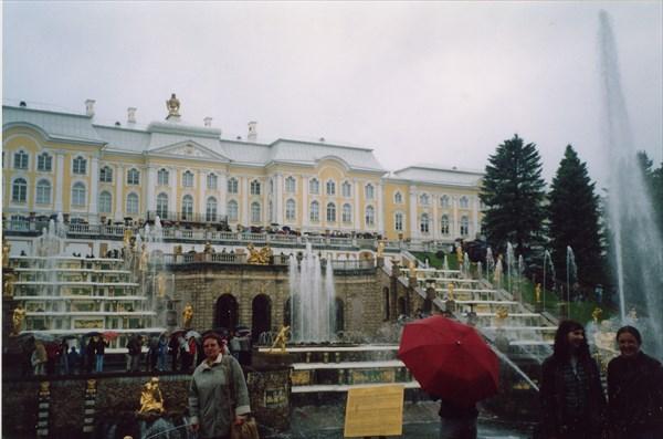 Петергоф. Нижний парк. Вид на Большой Петергофский дворец