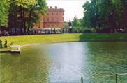 Вид из Летнего Сада на Михайловский замок